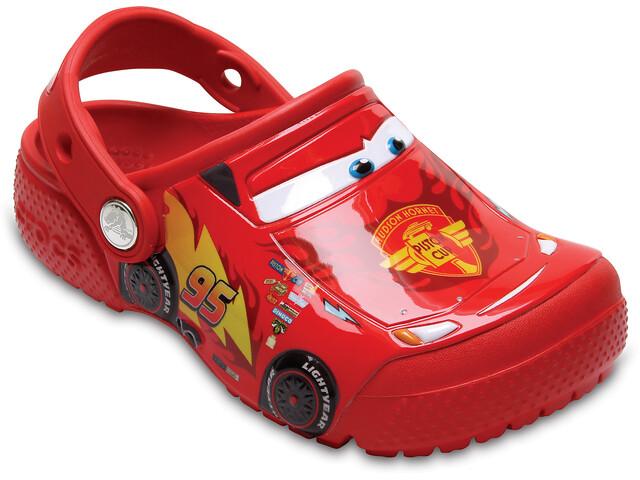 Crocs Fun Lab Cars Clogs Niños, rojo
